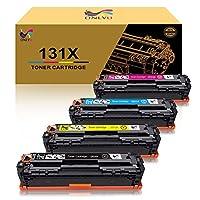 خرطوشة حبر متوافقة فقط مع HP 131X CF210X 131A CF210A CF211A CF212A CF213A لـ HP Laserjet Pro 200 لون M251nw M251n M276n M276nw (أسود سماوي أصفر ماجينتا ، 4 حزم)
