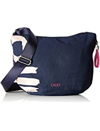 Oilily Damen Fun Nylon Shoulderbag Svz Umhängetasche, Blau (Dark Blue), 8 x 22 x 31 cm