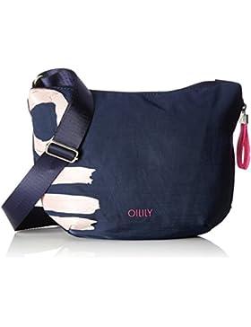 Oilily Damen Fun Nylon Shoulderbag Svz Umhängetasche, Blau (Dark Blue), 8 x 22 x 31 cm