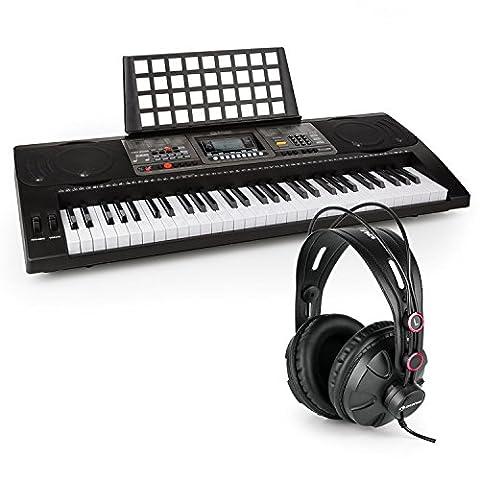 Schubert Etude 450 USB • Clavier d'apprentissage 61 touches MIDI LCD • Fonctions enregistrement et playback intégrées • Fonction entraînement avec 3 modes d'apprentissage différents • Casque de studio fermé inclus • Grande gamme dynamique