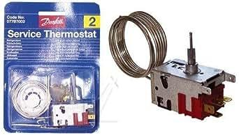 thermostat danfoss N°2 077b7002 pour réfrigérateur 1 porte avec bouton poussoir degivrage