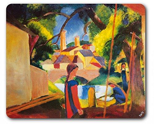 Preisvergleich Produktbild 1art1 89755 August Macke - Kinder Am Brunnen, 1914 Mauspad 23 x 19 cm