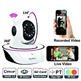 CASREEN IP Camera For Home Office Store | Wireless Dome Pan/Tilt with 2-Way Audio and Motion Detection | 720p HD Wi-Fi Security Surveillance System | Night Vision Support Micro SD Card Slot and LAN Port | Easy Remote Access for Android and iOs Smartphones and Tablets | CCTV Cameras For Indoor Outdoor Use | Wifi Stream Live Video in Mobile or Laptop | 4x Digital Zoom | Two-Way Dual Antenna Monitor With 2 Way Chat | IP_WIRELESS_CAMERA_100
