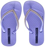 Ipanema Mädchen Anatomic Metallic Kids Zehentrenner, Blau (Blue/Rose), 27 EU