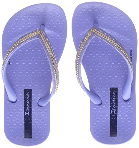 Ipanema Mädchen Anatomic Metallic Kids Zehentrenner, Blau (Blue/Rose), 30 EU (Flip Kinder Blue Flop)