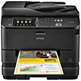 Epson WorkForce Pro WF-4640 Inkjet Multifunction Printer - Color - Plain Paper Print - Desktop - Copier/Fax/Printer/Scanner - 20 ppm Mono/20 ppm Color Print (ISO) - 4800 x 1200 dpi Print - Touchscreen LCD - 2400 dpi Optical Scan - Automatic Duplex Print - 580 sheets Input - Fast Ethernet - Wireless LAN - USB - C11CD11201