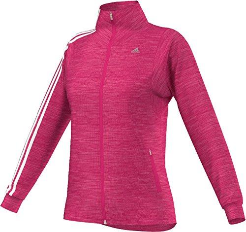adidas G70922 Climacool 3-Stripes Warm Tracktop Veste de survêtement pour femme Rose/blanc