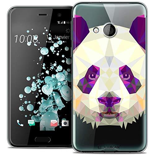 Caseink - Hülle Shutzhülle Back Case HTC U Play [Crystal Gel HD Polygon Series Animal - Flexibel - Ultra Fin - Auf Wunsch frisch in Frankreich gedruckt] Panda Htc Panda