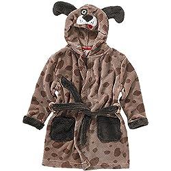 Animal Crazy Childs Boys Girls Puppy Dog Bath Robe Dressing Gown Supersoft Fleece