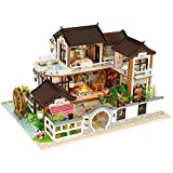 AIHOME DIY Cottage, DIY Small House Dream Back Ancient Town Cottage Without dust cover