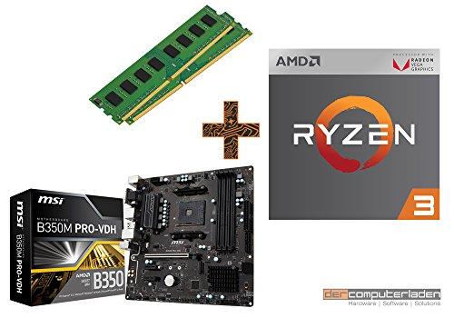 PC Aufrüstkit AMD, 3-2200G 4x3.5 GHz, 16GB DDR4, AMD Vega 8-2GB, Mainboard Bundle, Tuning Kit, fertig montiert, Spiele Office zusammengestellt in Deutschland Desktop Rechner