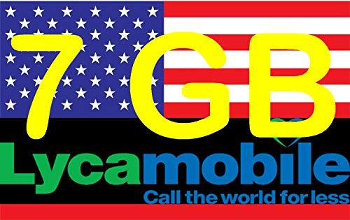Prepaid Sim-Karte USA - 6GB 4G LTE - Unbegrenzte Nationale Anrufe, Sms & Daten - 30 Tage (Unbegrent Festnetz-Telefonie Deutschland und Die Schweiz & Unbegrentz Mobilfunknet nach Österreich) Usa Mobile