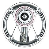 CHENG Échelle de Poids mécanique Grand Échelle de Salle de Bain Ronde Pointeur de Printemps Étanche à Haute résistance en Verre trempé, 36.5 * 35.5 * 6.3CM