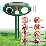 Sdkmah9 Animal Repellent, Hinmay Ultrasonic Pest Repeller Solar Powered Dog Cat Deterrent Outdoor Animal Scarer Waterproof with LED Flash Light Protect Your Yard Lawn Garden from Bird Cat Dog Fox