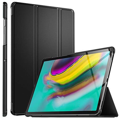 ELTD Hülle für Samsung Galaxy TAB S5E,Ultra Lightweight Flip mit Ständer & Eingebautem Magnet Hochwertiges PU Leder Schutzhülle für Samsung Galaxy TAB S5E T720/T725 10.5 Zoll Tablet [Schwarz]
