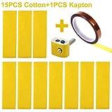 Cctree 15PCS stampante 3D riscaldamento Block in cotone con nastro kapton ugello Hotend cotone isolamento termico per Ultimaker/Makerbot/Creality cr-10