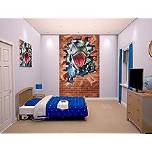 Póster de tela Mural de dinosaurio, Multi-color