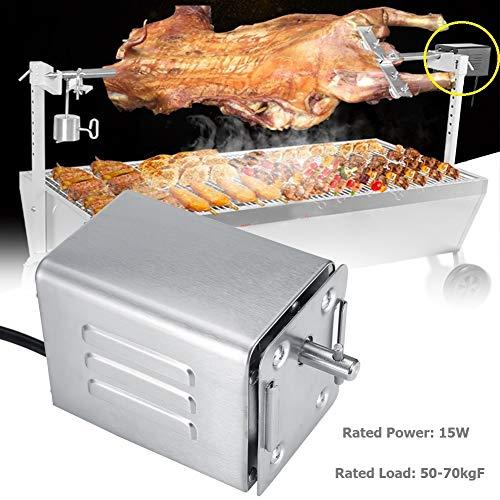 Acogedor Grillmotor,50-70KGF Edelstahl BBQ Rotisserie Motor Elektro-Grillmotor,für Familienessen, Grillabende im Freien, Hotelküchen usw.(220V)
