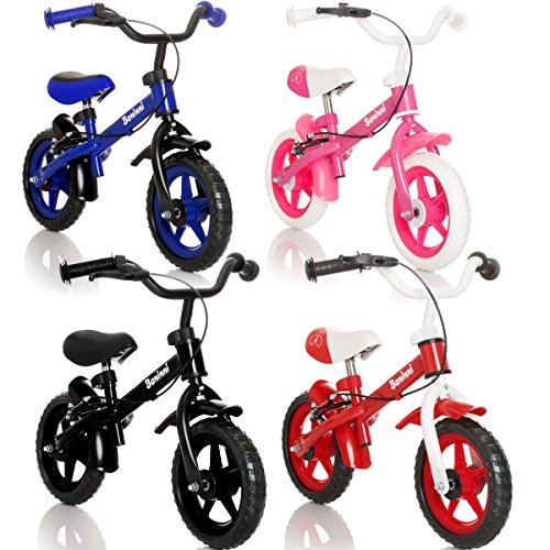 Stimo24 Laufrad Kinderrad (MIT BREMSEN) / Fahrrad / Lernlaufrad in 4 verschiedenen Farben (Blau)