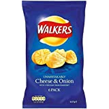 Walkers Crisps - Cheese & Onion (6x25g)