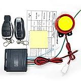 Auto Alarm System 12 V Universal Motorrad Alarmanlage Doppel Fernbedienung