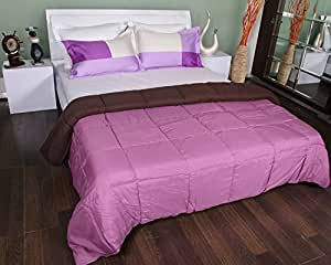Bombay Dyeing Slumber Reversible Double Quilt - Purple