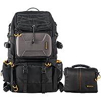 TARION PB-01 Kamerarucksack Kameratasche Wetterfest DSLR Rucksack für Camping, Reise Sport, Fotografie (Schwarz)