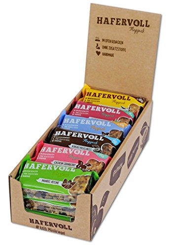 Hafervoll Müsliriegel Mix-Box 6fach sortiert in 18er Faltschachtel (18x65g) (Trail Mix Energie)