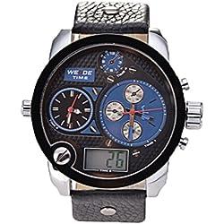 Kobwa(TM) WEIDE Mens PU Leather Analog Digital Wrist Watches with Kobwa's Keyring