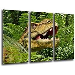 Cuadro Moderno fotografico base madera, 97 x 62 cm, Dinosaurios, T-REX ref. 26132