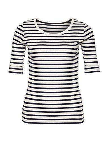 Marc Cain Essentials Damen T-Shirt +E4809J91 Blau (midnight blue 395)