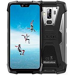 """Blackview BV9700 Pro【2019】Moviles Resistentes Android 9.0 Helio P70 Dual SIM 4G, 6GB RAM+128GB ROM, 16MP+8MP+16MP, 5.84"""" FHD+Visión Nocturna Rugged Phone, Pulsómetro/Medidor de Calidad de Aire-Gris"""