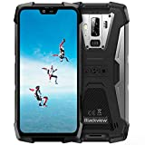 Blackview BV9700 Pro (2019) Outdoor Handy Android 9.0, Helio P70 Dual SIM 6GB RAM+128GB ROM+SD 128GB, 16MP+8MP+16MP, 5,84 Zoll FHD Display, Herzfrequenz/Luftqualität Outdoor Handy Akku 4380mAh-Grau
