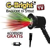 G-BRIGHT ® MAGIA DI STELLE PROIETTORE DI STELLE - FINO A 300 Mq - Christmas led Light Show