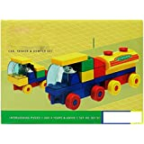 Grab Offers Kinder Blocks Car, Tanker And Dumper Set - Interlocking Architectural Set For Kids.(Multicolor)