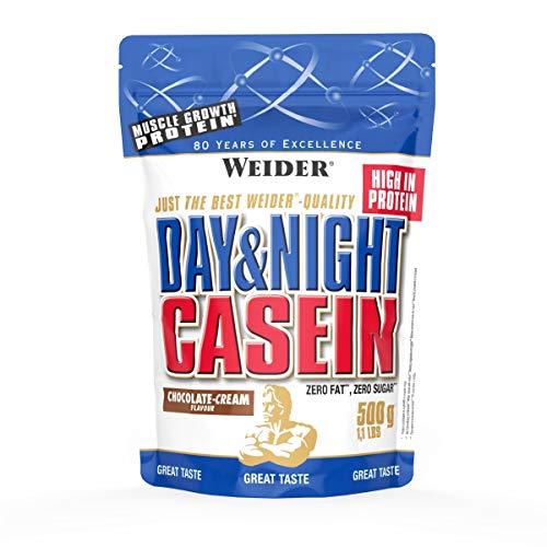 Weider, Day & Night Casein Protein, Schoko-Sahne, 1er Pack (1x 500 g) - Protein Mousse
