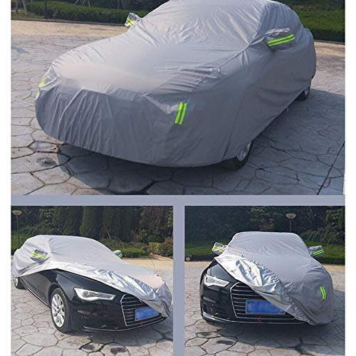YU-CZ0 Oxford-Stoff-Auto-Abdeckung/kompatibel mit Volvo/Abdeckungs-Auto-Planen-Sonnenschutz-Regen-Staub-Frostschutzmittel-Verdickungs-Isolierung,Gray,XC90 806 Oxford