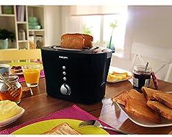 (CERTIFIED REFURBISHED) Philips HD2630/20 1000-Watt Sandwich Pop-Up Toaster (Black)