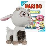 Minions Einhorn Plüschfigur - Neu 2017 - Das Fluffy Unicorn zum Neuen Minions Kinofilm Ich Einfach Unverbesserlich (50cm Einhorn-Ziege + Haribo Minions 150g)