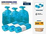 Imballaggi2000 Sacchetti Per Differenziata Azzurri 55x65 in rotolo pezzi (200)