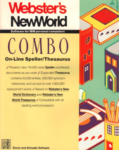 Webster's New World Software for IBM Personal Computers Combo On-line Speller/ZThesaurus (Combo-computer)