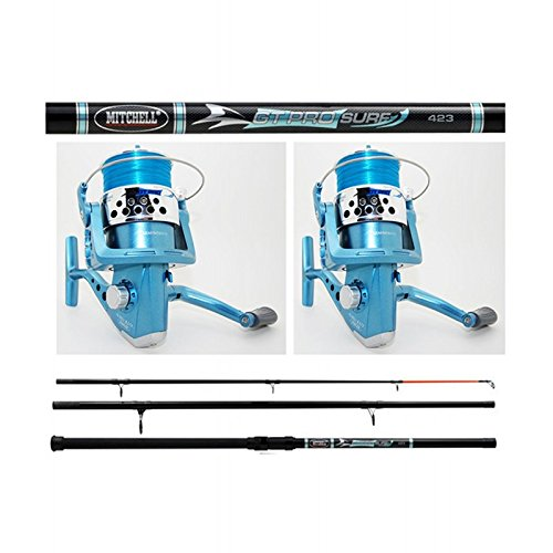 Mitchell - Pack 2 Cannes + 2 Moulinet Surf Mitchell Gt Pro Surf 423