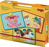 HABA 302588 - Magnetspiel-Box Verzier-Tier | Magnetspielzeug mit 3 Hintegrundbildern und 51 magnetischen Teilen zum Verzieren | Spielzeug ab 3 Jahren