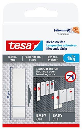 Preisvergleich Produktbild tesa Klebestreifen zum Befestigen auf Tapete & Putz, 1 kg Halteleistung