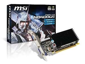 MSI NX8400GS-TD256E Carte graphique NVIDIA Interface PCI Express 2.0 Type DDR2 / DVI 256 Mo