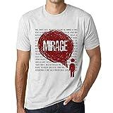 Photo de Homme T Shirt Graphique Imprimé Vintage Tee Thoughts Mirage Blanc Chiné par One in the City