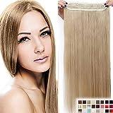 23' Extensions Cheveux Clips Monobande 58CM - Blond Cendré