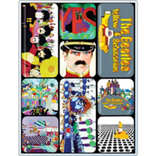 [UK-Import]The Beatles Yellow Submarine Epoxy Magnet Set - Beatles Yellow Submarine Magnet