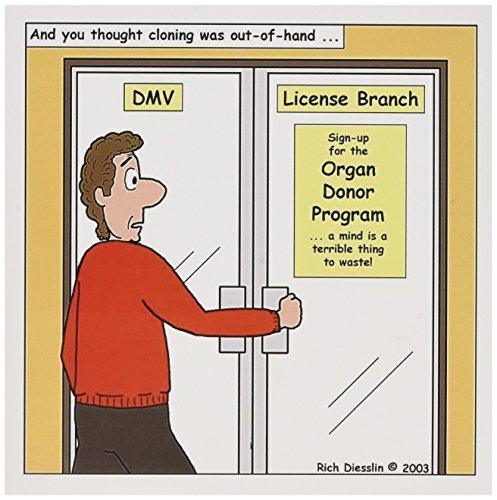 Abteilung Von kraftfahrzeugen-Organspender Programm-Grußkarte, 15,2x 15,2cm, Single (GC 2751_ 5)