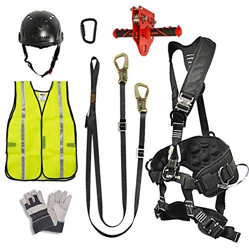 Fusion Climb Pro Backyard Zip Line Kit cablaggio cordino Trolley moschettone Casco Vest Guanto Bundle FK-A-HLTCHVG-40